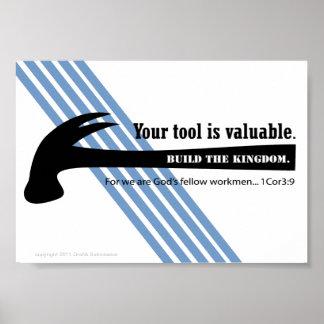 martille, utilice su herramienta para el reino póster