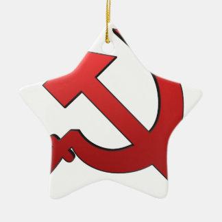 Martille y stickle adorno navideño de cerámica en forma de estrella