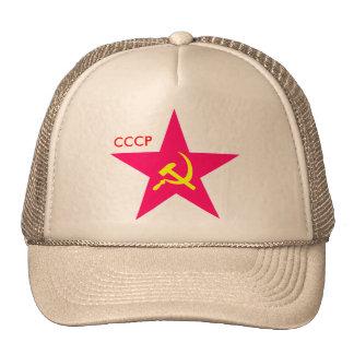Martillo de la estrella de CCCP y casquillo rojos  Gorro De Camionero