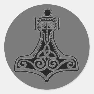 Martillo de los Thors Pegatina Redonda