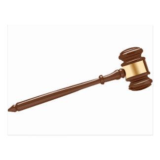 Martillo del juez postales