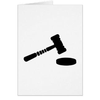 Martillo del juez tarjeta de felicitación