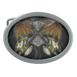 Martillo del Thor de las guitarras de dioses Hebilla De Cinturon Oval