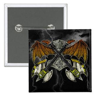 Martillo del Thor de las guitarras de dioses Pin Cuadrado
