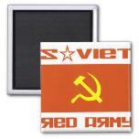 Martillo soviético y hoz del ejército rojo imán para frigorifico