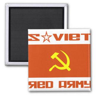 Martillo soviético y hoz del ejército rojo imán cuadrado