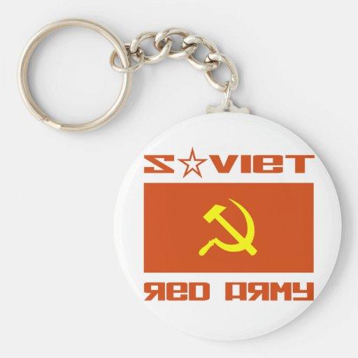 Martillo soviético y hoz del ejército rojo llaveros