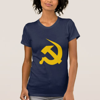 Martillo y hoz amarillos brillantes Neo-Gruesos Camiseta
