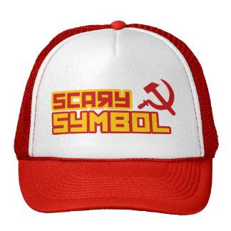 Martillo y hoz asustadizos del símbolo gorras de camionero