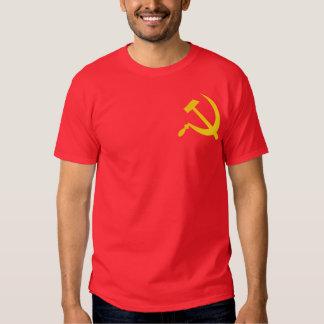 Martillo y hoz comunistas playera