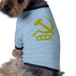 Martillo y hoz de CCCP Ropa De Mascota