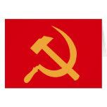 martillo y hoz de URSS del cccp Felicitaciones