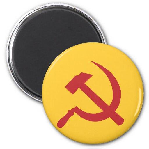 martillo y hoz de URSS del cccp Imán De Frigorífico