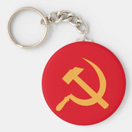 martillo y hoz de URSS del cccp Llavero Redondo Tipo Pin