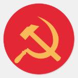 martillo y hoz de URSS del cccp Pegatina Redonda