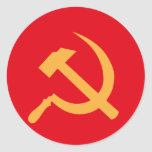 martillo y hoz de URSS del cccp Pegatinas Redondas