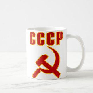martillo y hoz de URSS del cccp Taza De Café