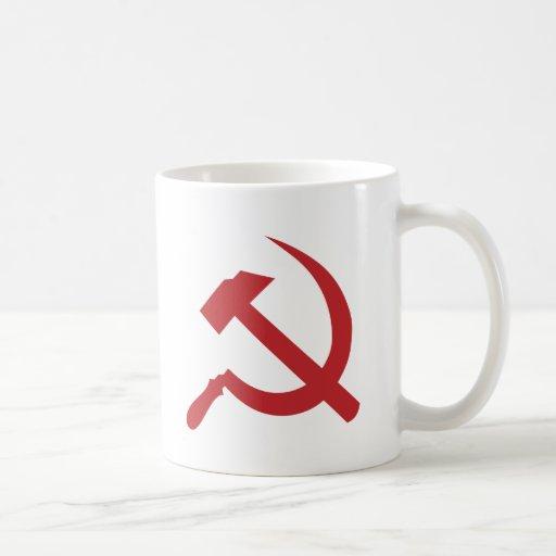 martillo y hoz de URSS del cccp Tazas
