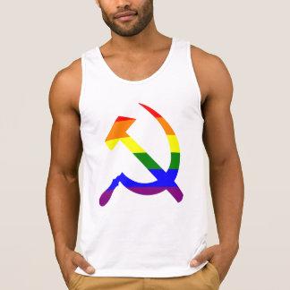 Martillo y hoz del arco iris playeras de tirantes