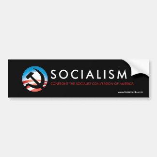 Martillo y hoz del socialismo de Obama Pegatina De Parachoque