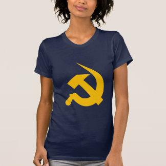 Martillo y hoz Neo-Gruesos del amarillo de cromo Camisetas