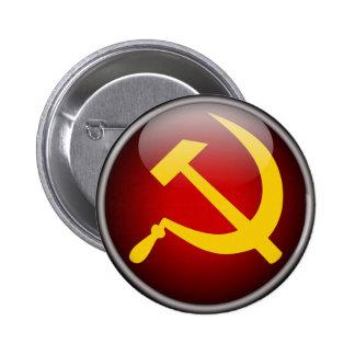 Martillo y hoz rusos soviéticos pin redondo 5 cm