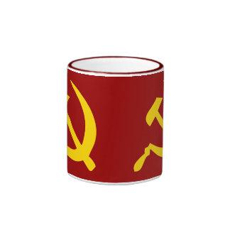 Martillo y hoz taza de dos colores