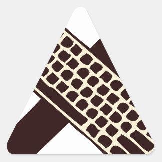 Martillo y teclado calcomanías de trianguladas
