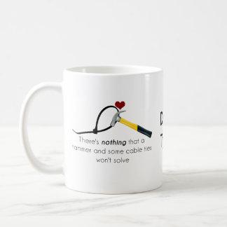Martillo y zap-correa taza de café