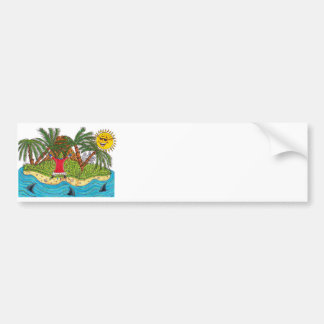 Martin and the desert island paradise bumper sticker