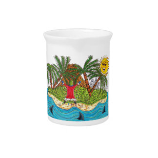 Martin and the desert island paradise drink pitcher