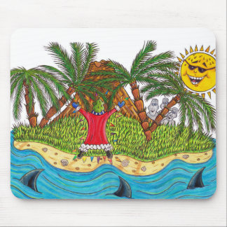 Martin and the desert island paradise mouse pad