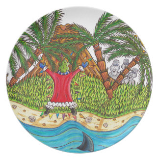 Martin and the desert island paradise plate