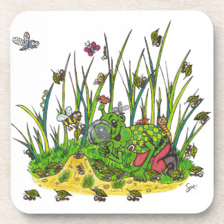 Martin and the Insects Beverage Coaster
