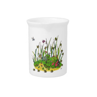 Martin and the Insects Beverage Pitcher