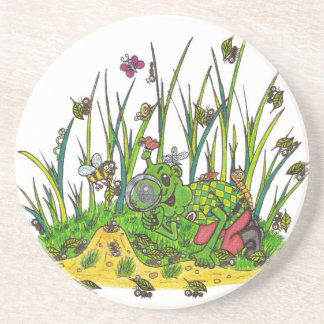Martin and the Insects Sandstone Coaster