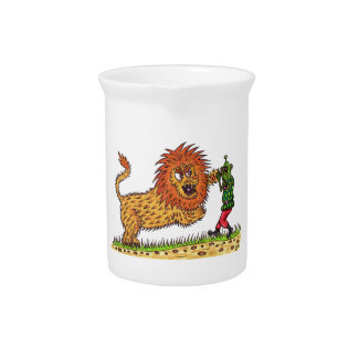 Martin and the lion beverage pitcher