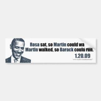 Martin caminó así que Barack podría correr Pegatina Para Auto