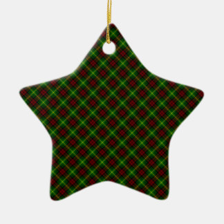 Martin Clan Tartan Scottish Design Double-Sided Star Ceramic Christmas Ornament