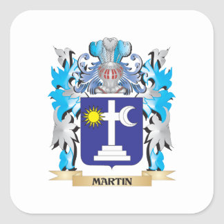 Martin Coat of Arms - Family Crest Square Sticker