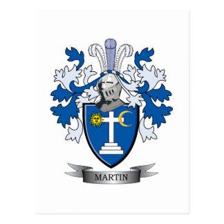 Martin Coat of Arms Postcard