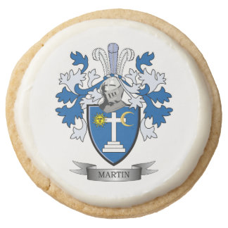 Martin Coat of Arms Round Shortbread Cookie