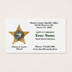 Sheriff business cards templates zazzle martin county sheriffs office bussiness card business card colourmoves