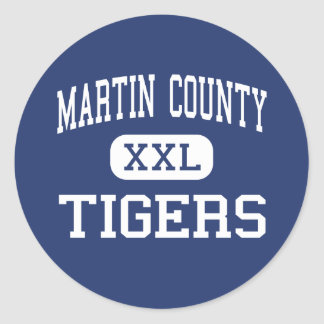 Martin County - Tigers - High - Stuart Florida Round Sticker