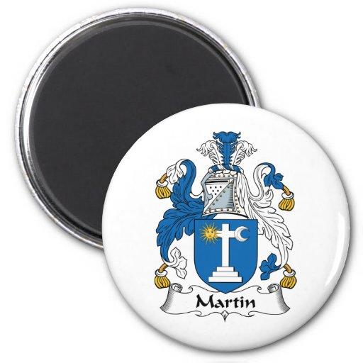 Martin Family Crest 2 Inch Round Magnet