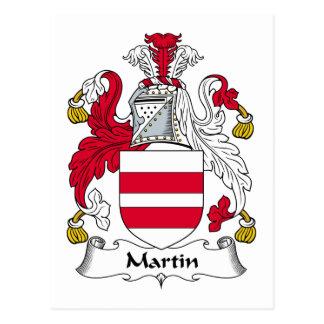 Martin Family Crest Postcard