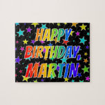"[ Thumbnail: ""Martin"" First Name, Fun ""Happy Birthday"" Jigsaw Puzzle ]"