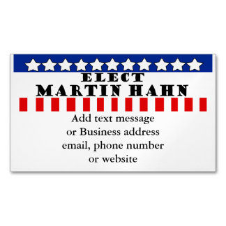 Martin Hahn For President Business Card Magnet