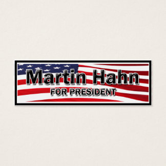 Martin Hahn For President Mini Business Card