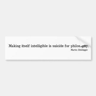 Martin Heidegger Etiqueta De Parachoque